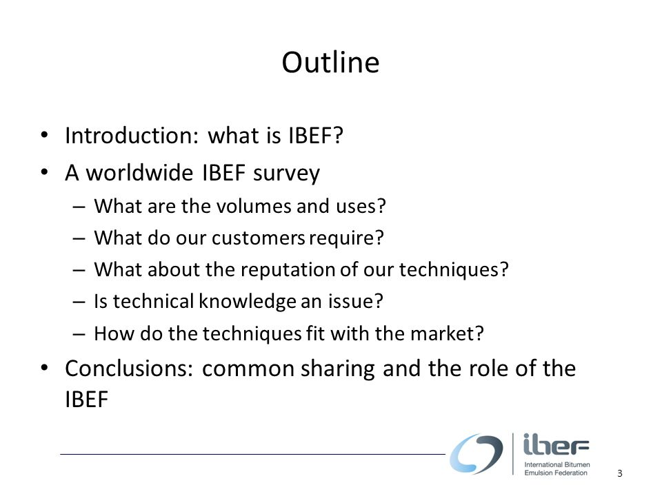 What is IBEF.