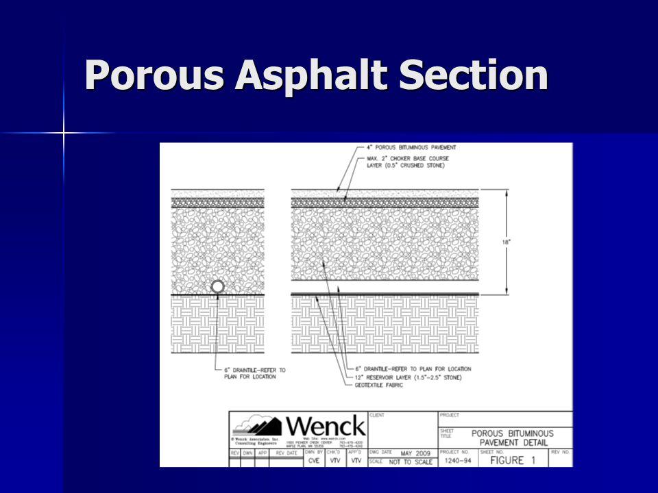 Porous Asphalt Section
