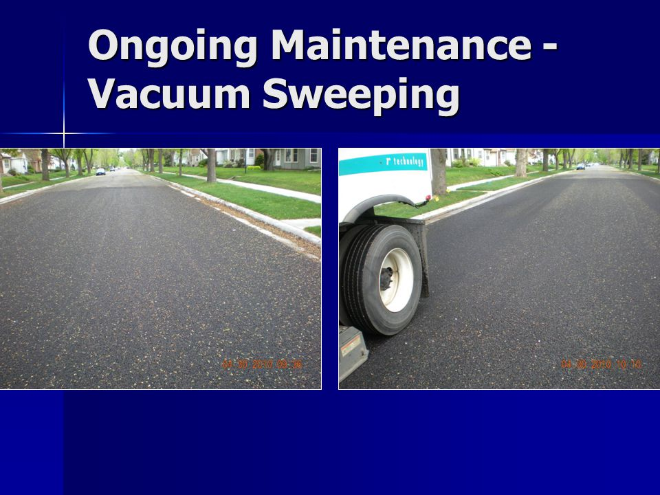 Ongoing Maintenance - Vacuum Sweeping