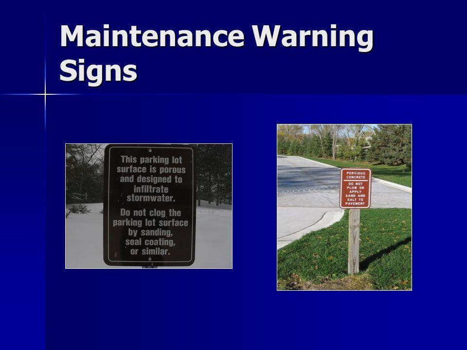 Maintenance Warning Signs