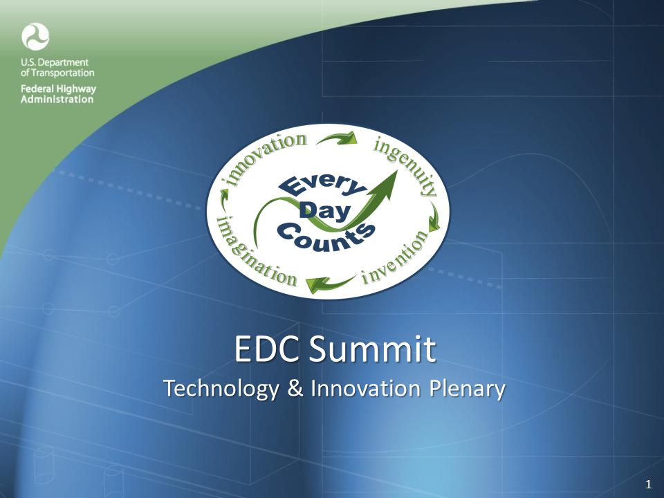 EDC Summit Technology & Innovation Plenary 1