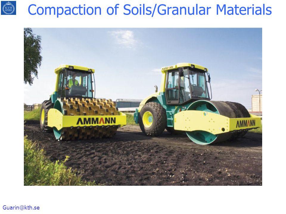 Guarin@kth.se Compaction of Soils/Granular Materials
