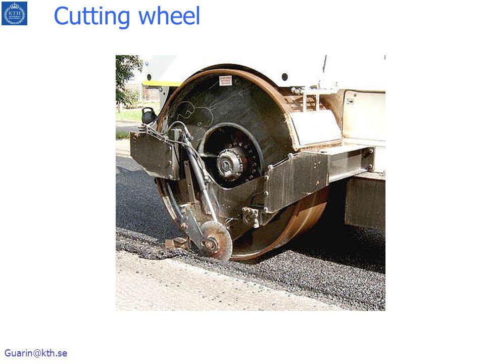 Guarin@kth.se Cutting wheel