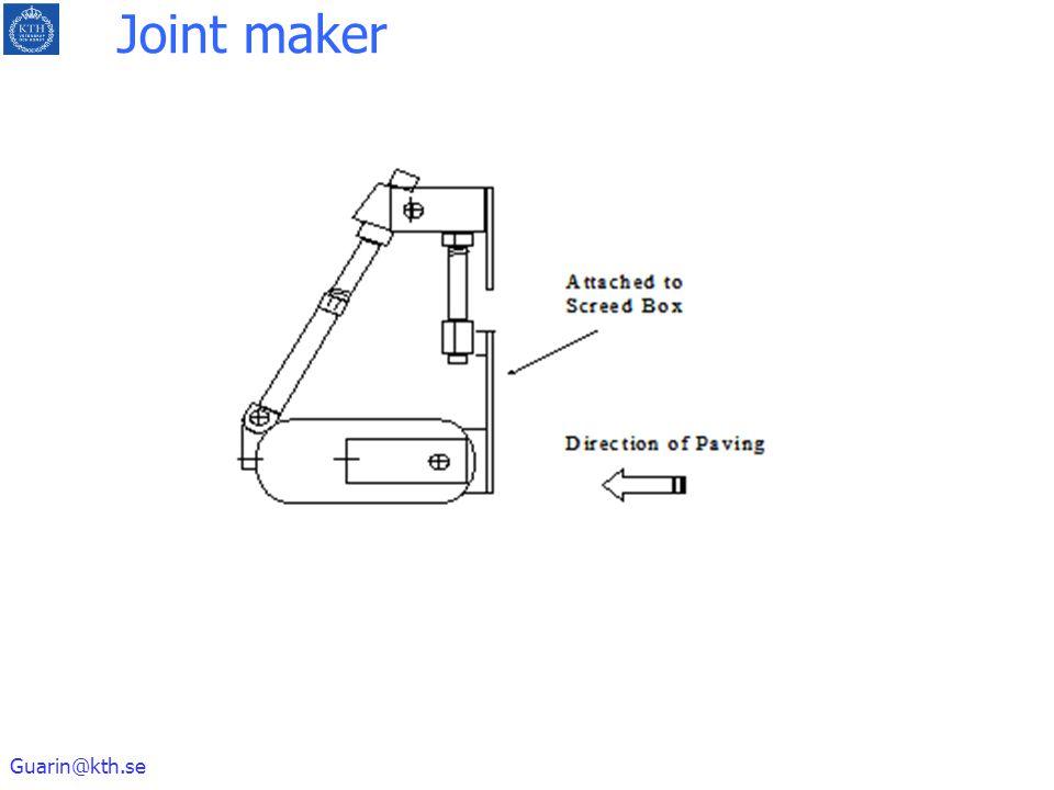 Guarin@kth.se Joint maker