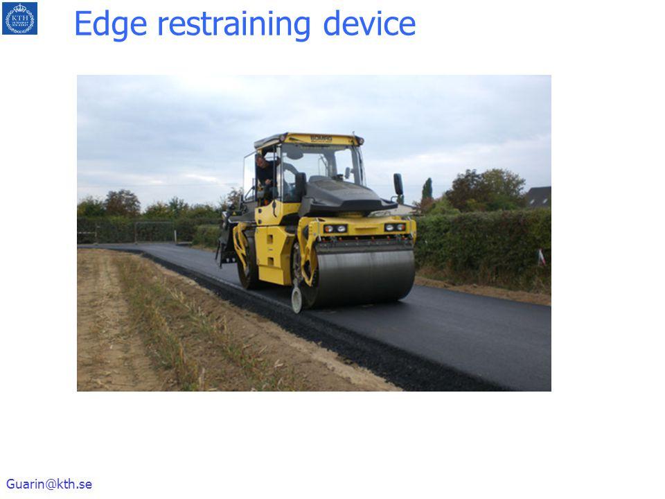 Guarin@kth.se Edge restraining device