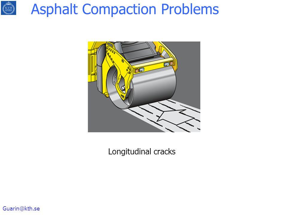 Guarin@kth.se Longitudinal cracks Asphalt Compaction Problems