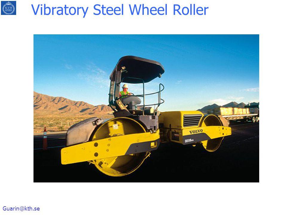 Guarin@kth.se Vibratory Steel Wheel Roller