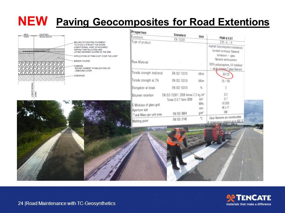 24 |Road Maintenance with TC-Geosynthetics NEW Paving Geocomposites for Road Extentions