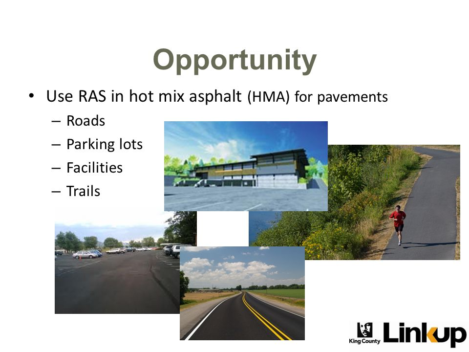 National use of RAS in HMA 27 states allow RAS use on publicly-owned roads.