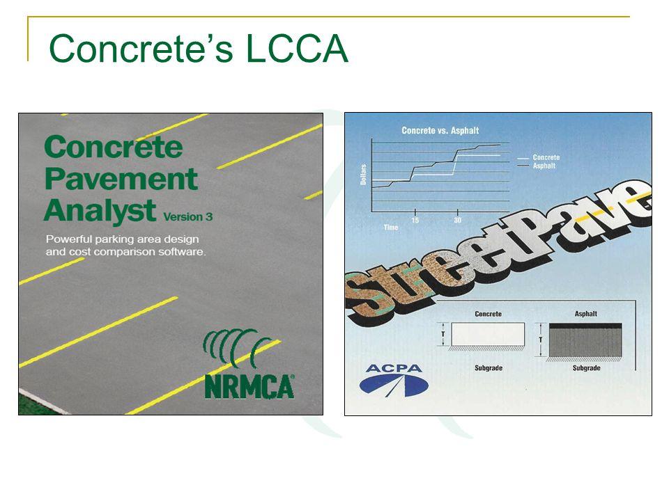 Concrete's LCCA