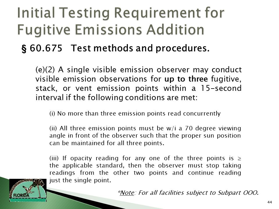 44 § 60.675 Test methods and procedures.