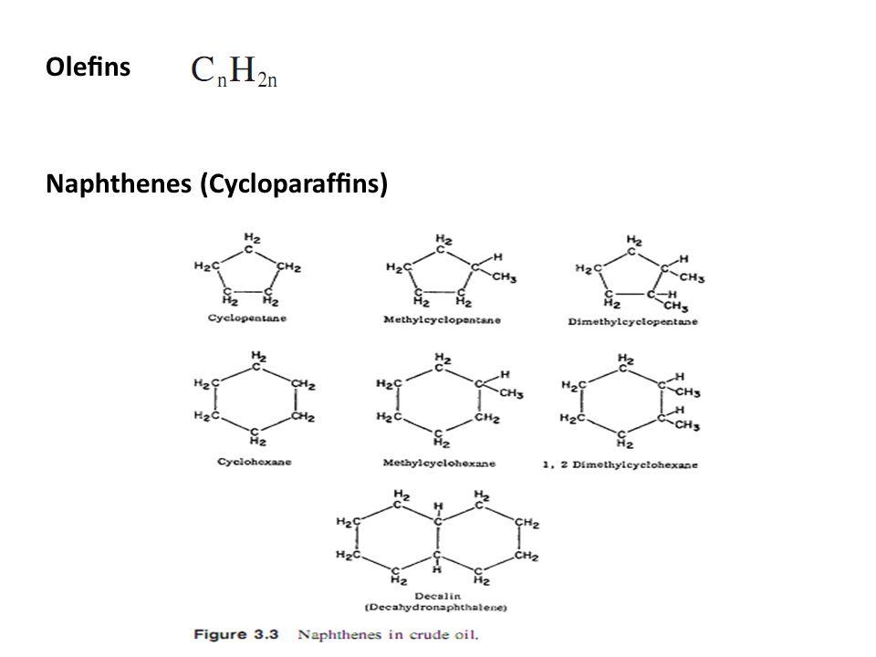 Olefins Naphthenes (Cycloparaffins)