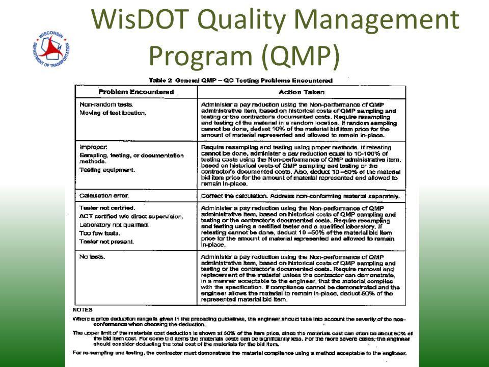 WisDOT Quality Management Program (QMP)