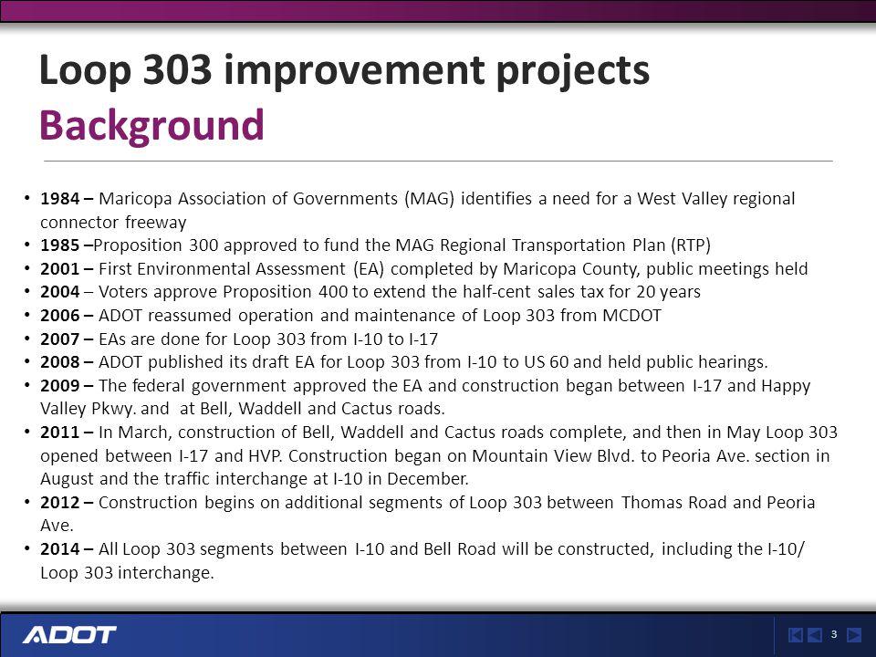 4 Loop 303/US 60 traffic interchange Current conditions