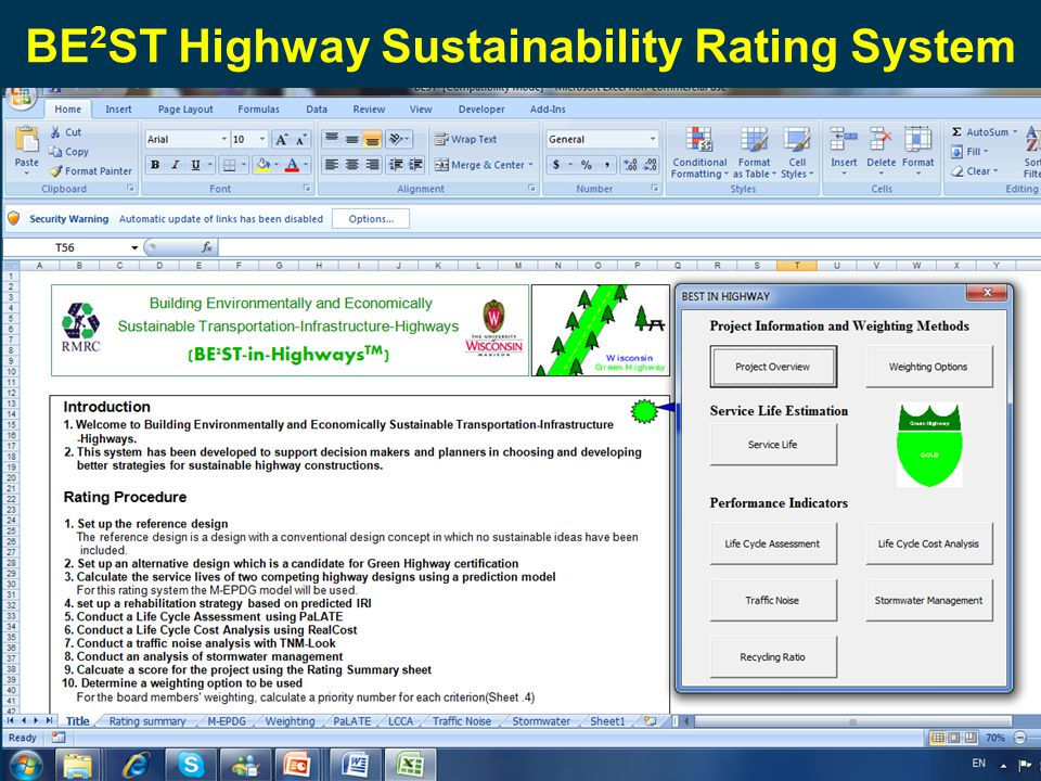 BE 2 ST Highway Sustainability Rating System
