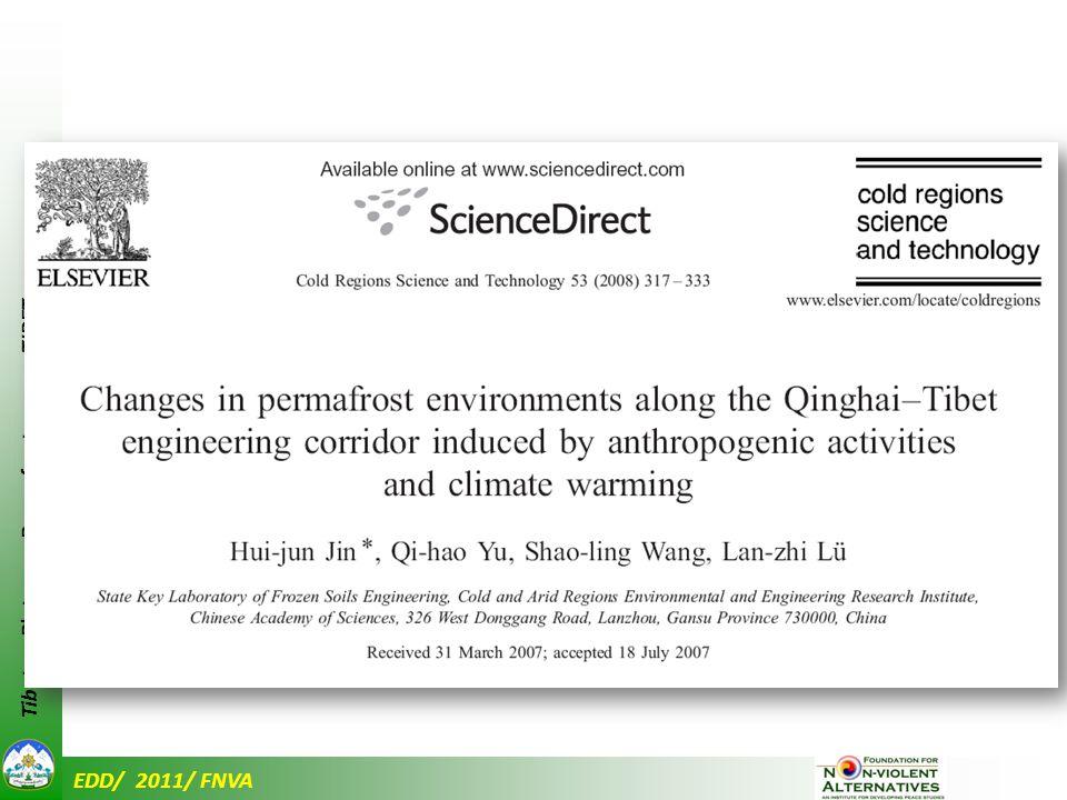 EDD/ 2011/ FNVA Tibetan Plateau – Permafrost cover - TIBET