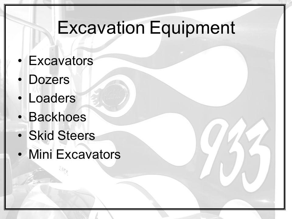 Excavation Equipment Excavators Dozers Loaders Backhoes Skid Steers Mini Excavators