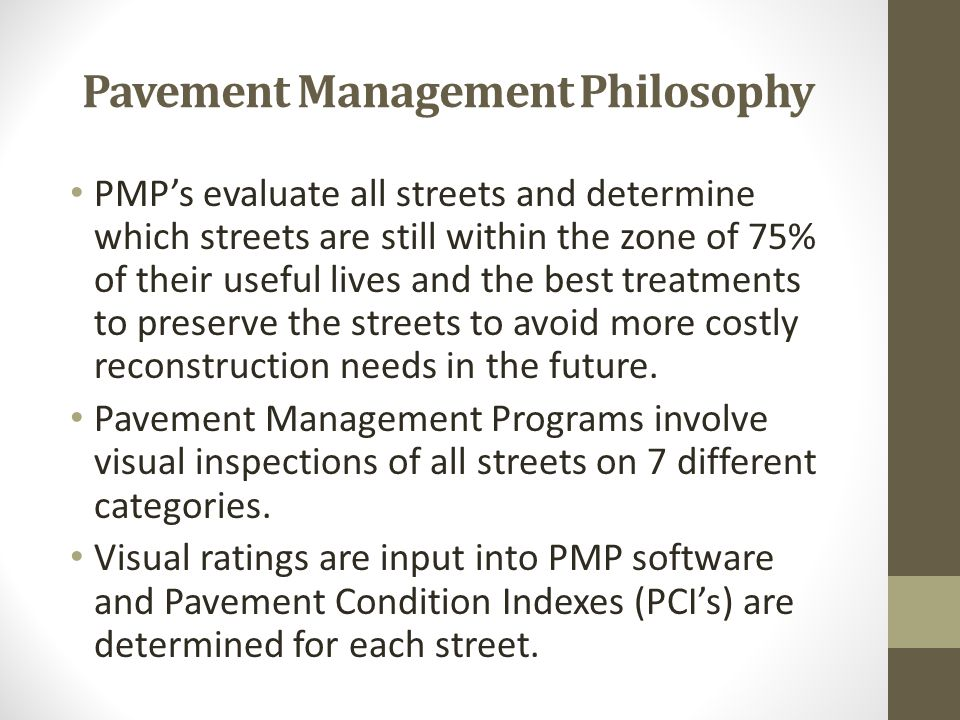 Pavement Condition Index