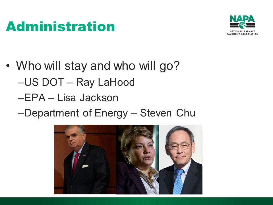 Administration Who will stay and who will go.