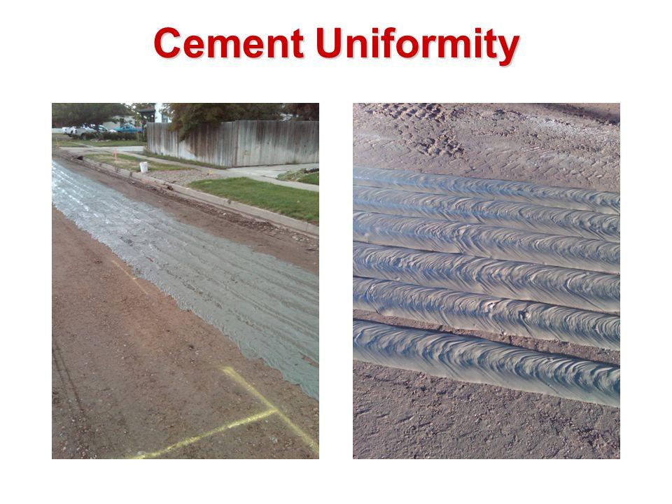 Cement Uniformity