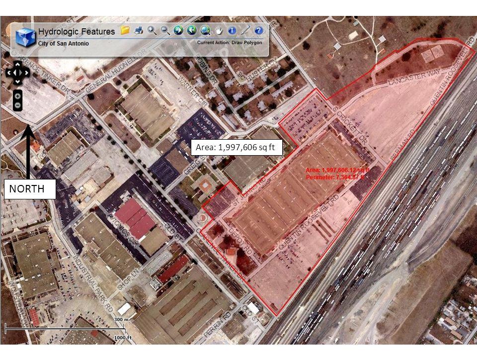 Area: 1,997,606 sq ft NORTH