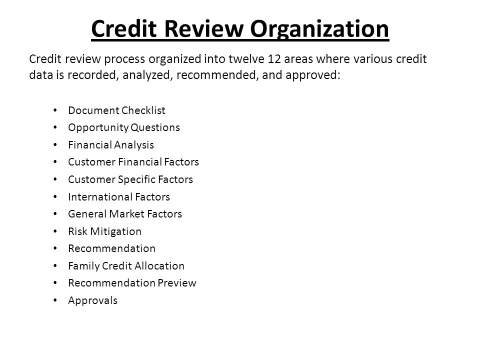 Recommendation Tab Summarizes the Credit Manager's recommendation for a credit limit, payment method, and payment terms.