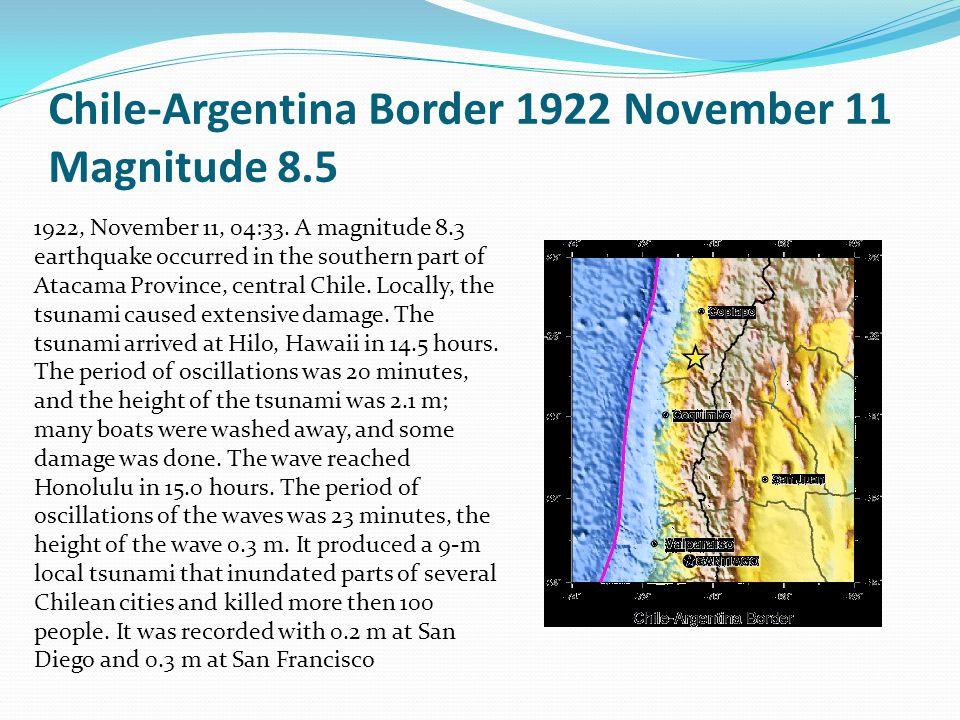 Additional Quakes Sumatra  Dec 26 2004 (9.1)  Mar 28 2005 (8.6)  Apr 11 2012 (8.6)  Sep 12 (2007) (9.5) Chile since 1950: Feb 27 2010 (8.8) April 1 2014 (8.2) June 13 2005 (7.8) Nov 14 2007 (7.7) July 30 1995 (8.0) Dec 9 1950 (8.3) Real Time Quakes in Chile