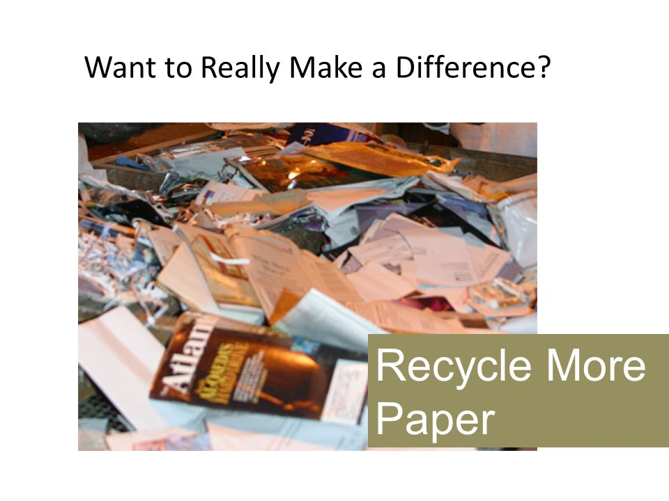 Want to Really Make a Difference? Recycle More Paper