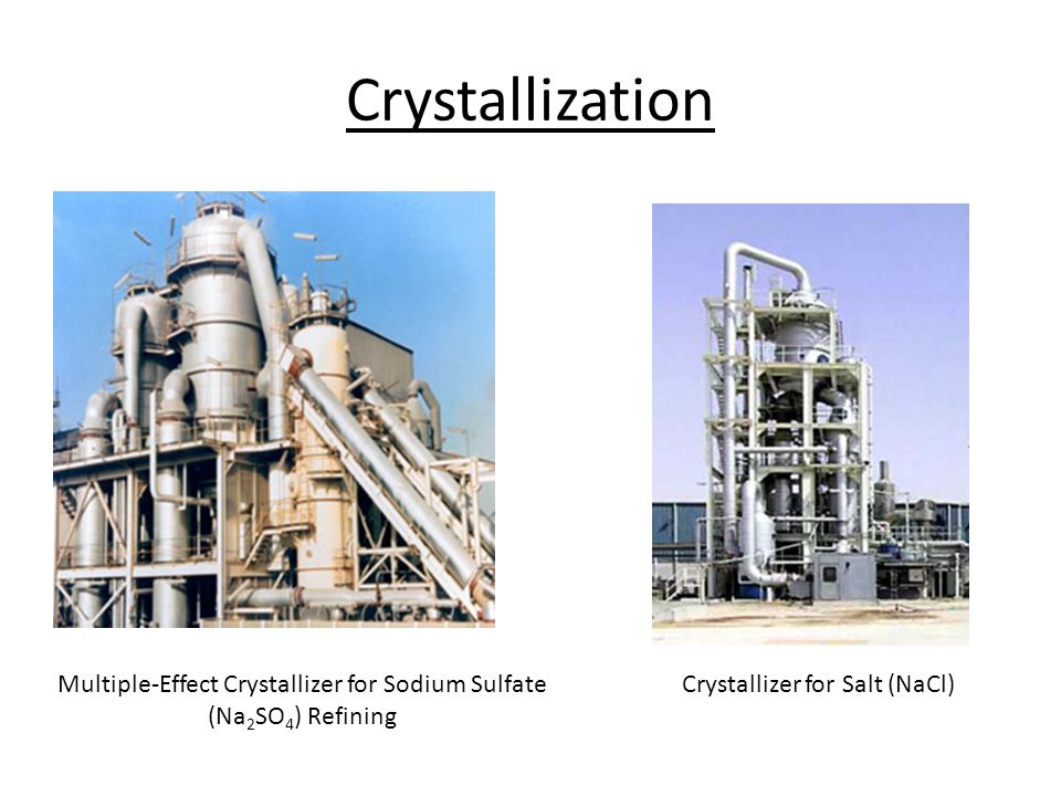 Crystallization Multiple-Effect Crystallizer for Sodium Sulfate (Na 2 SO 4 ) Refining Crystallizer for Salt (NaCl)