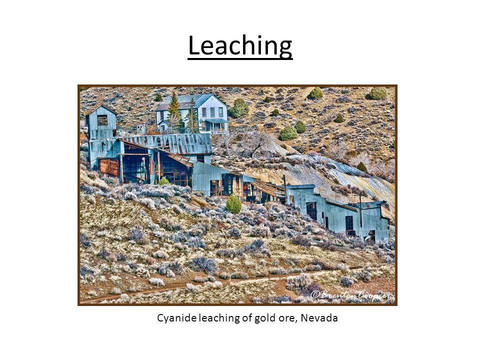 Leaching Cyanide leaching of gold ore, Nevada