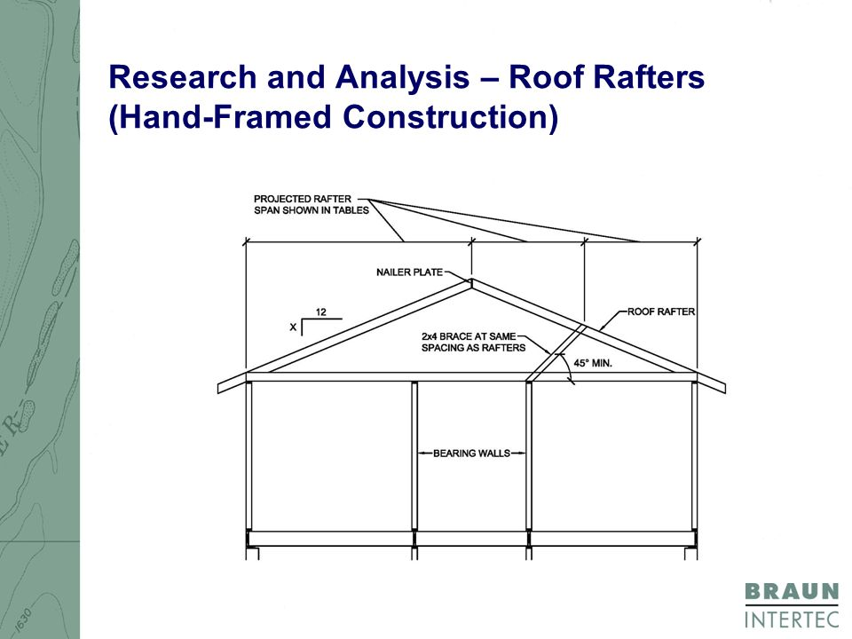 Research and Analysis – Roof Rafters (Hand-Framed Construction)