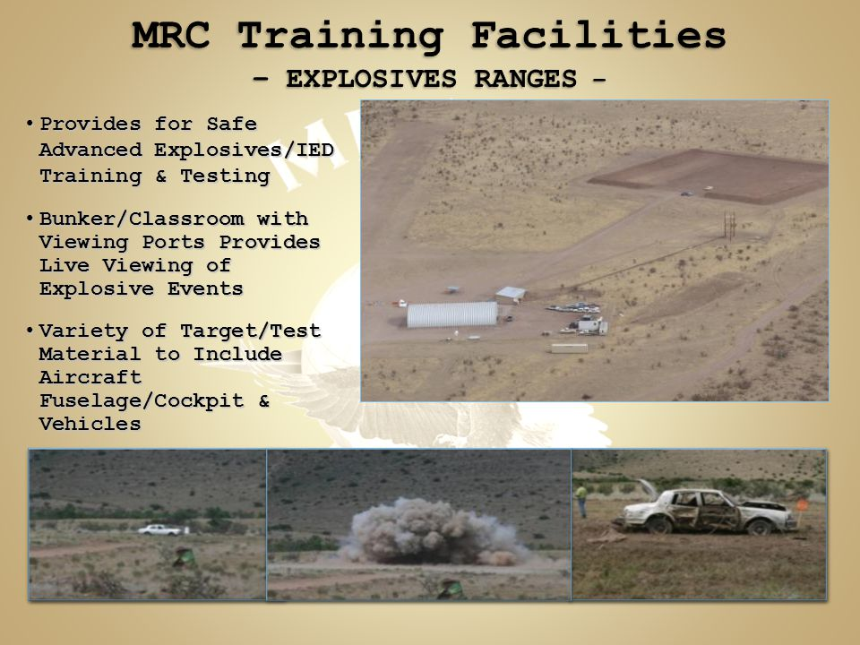 Provides for Safe Advanced Explosives/IED Training & TestingProvides for Safe Advanced Explosives/IED Training & Testing Bunker/Classroom with Viewing