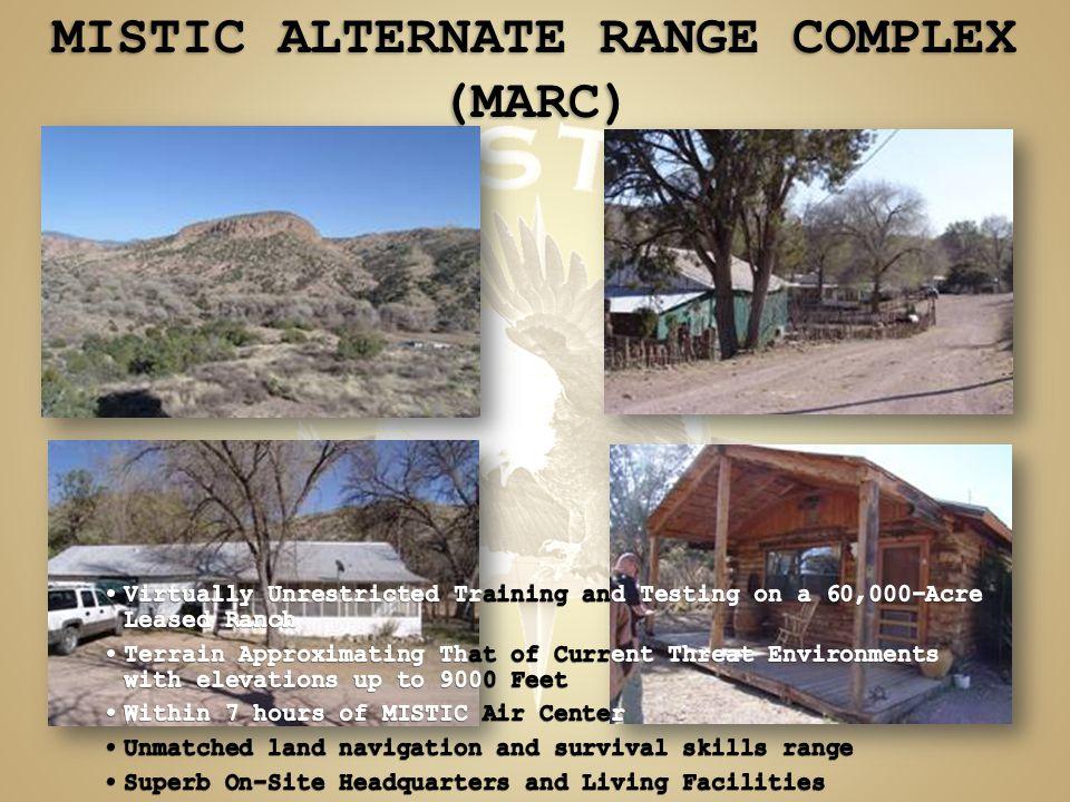 MISTIC ALTERNATE RANGE COMPLEX (MARC)