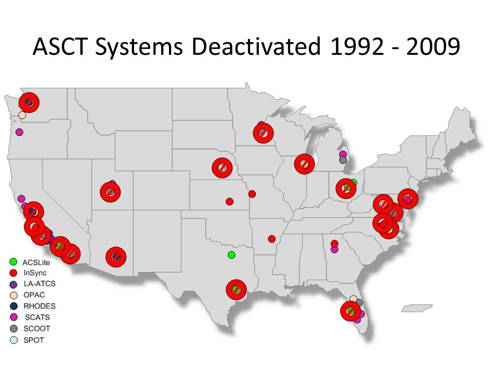 ASCT Systems Deactivated 1992 - 2009