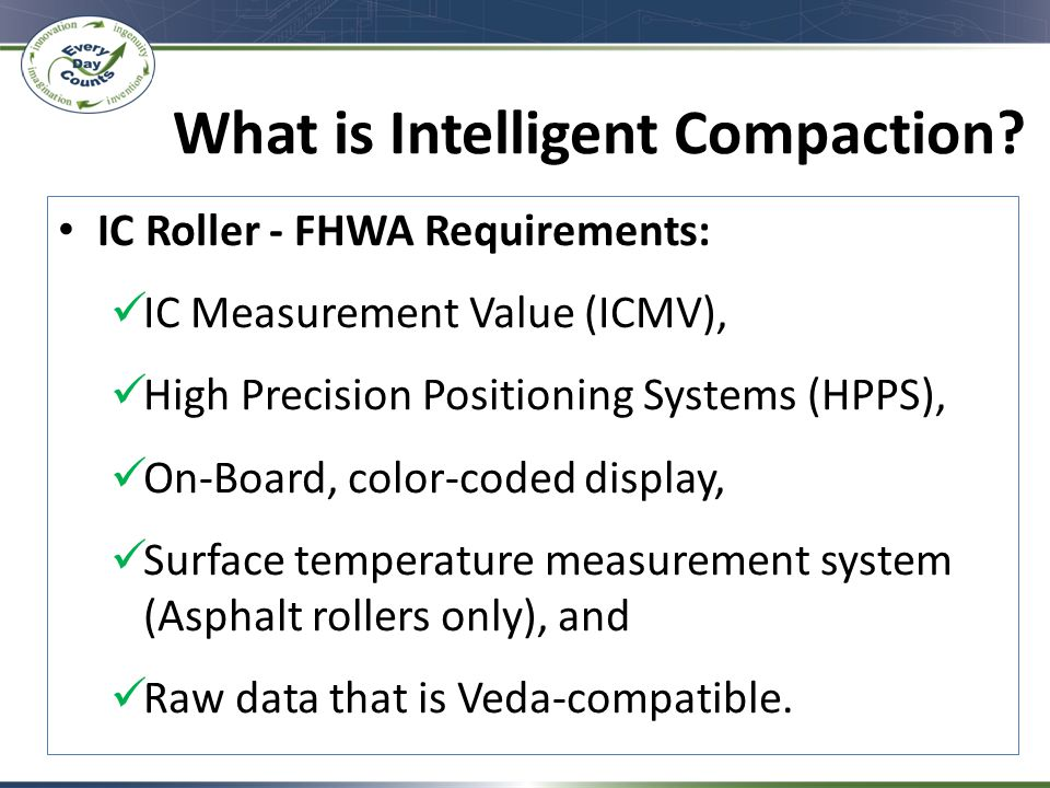 What is Intelligent Compaction.