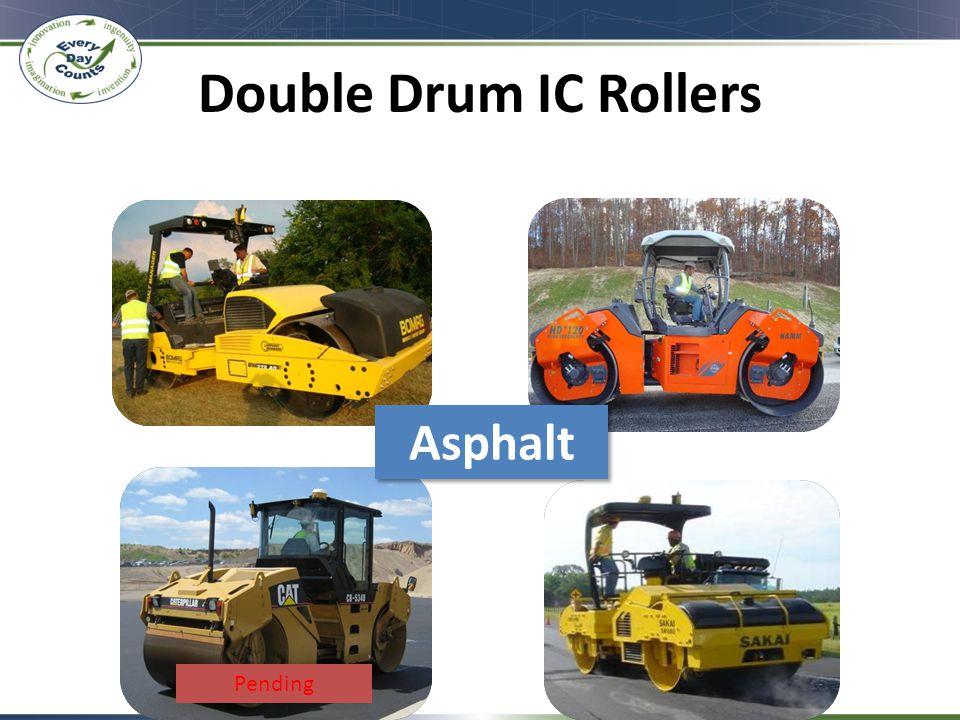 Double Drum IC Rollers Bomag Caterpillar Sakai HAMM-Wirtgen Asphalt Pending