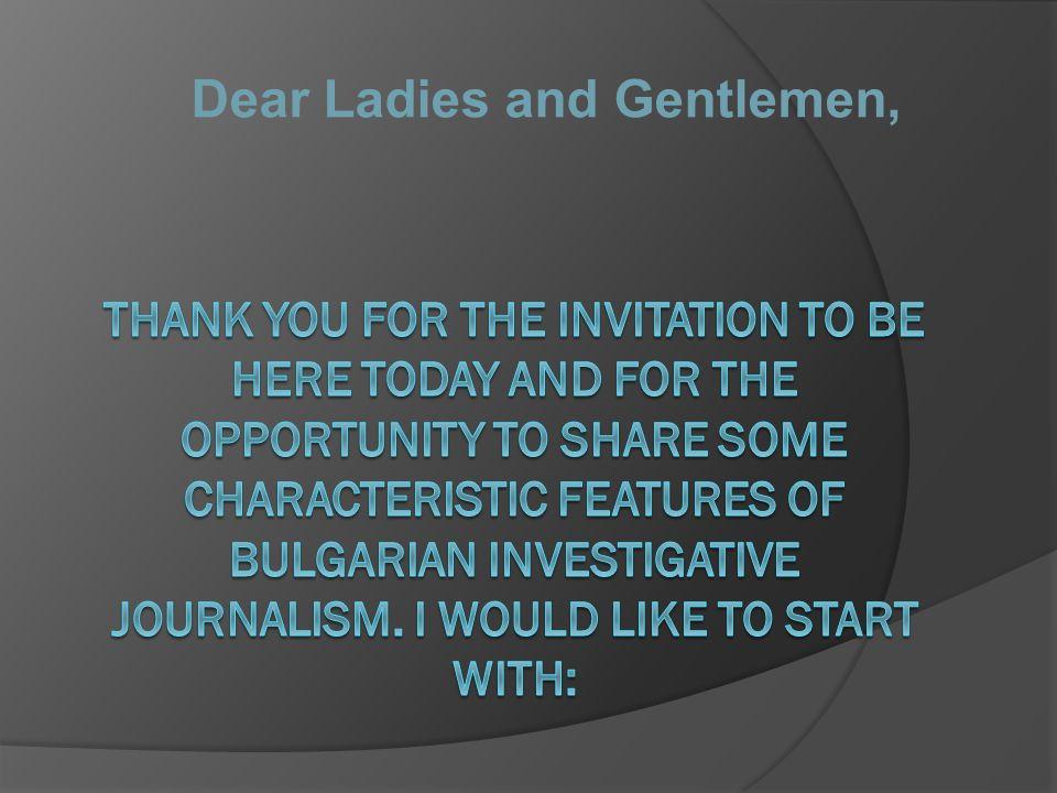 Dear Ladies and Gentlemen,