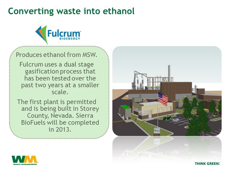 Produces ethanol from MSW.