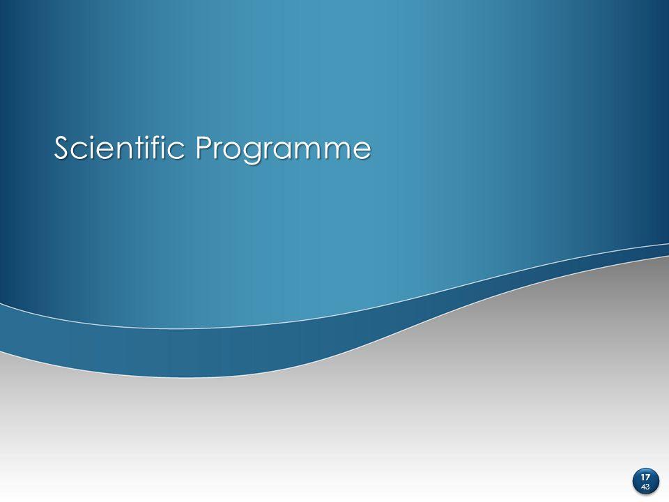 Scientific Programme 17 43