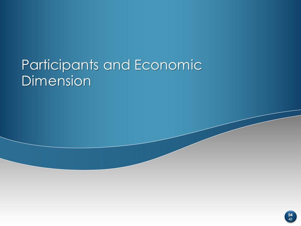 Participants and Economic Dimension 24 43