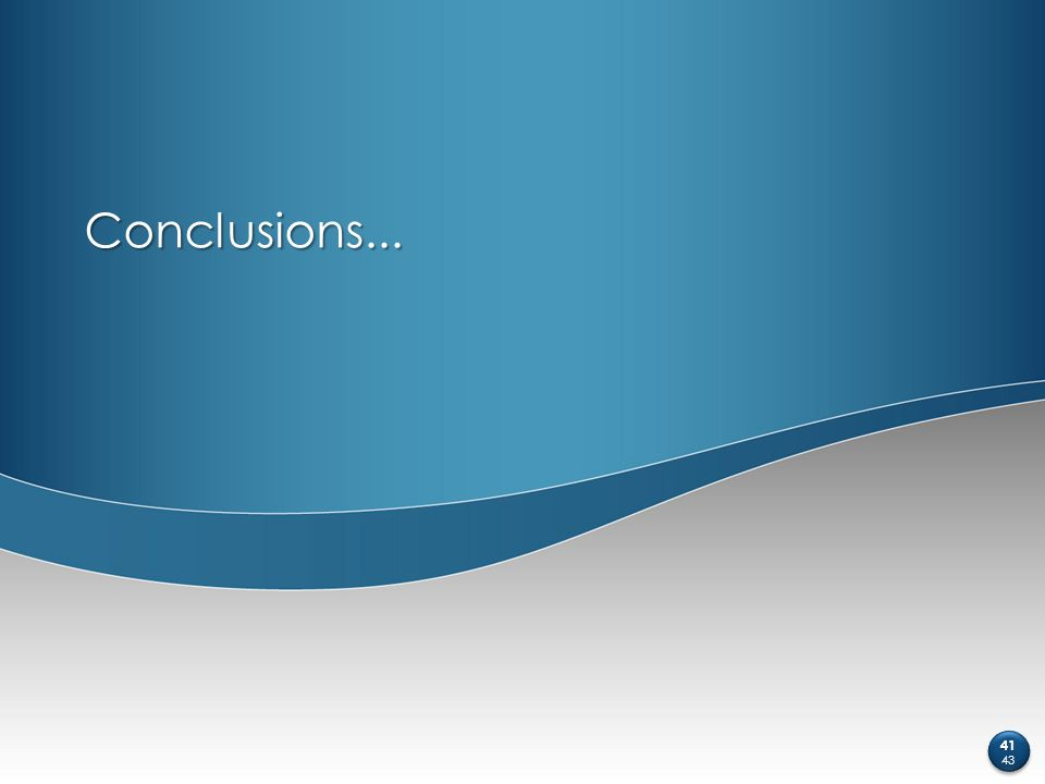 Conclusions... 41