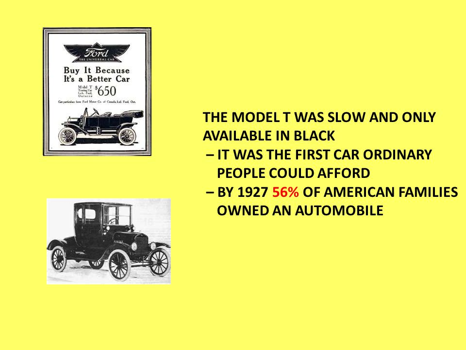 Economy NEW WAYS OF BUYING HELPED TO CREATE THE CONSUMER REVOLUTION – PEOPLE DID NOT ALWAYS HAVE THE MONEY TO BUY SOMETHING COULD BUY ON CREDIT – INSTALLMENT PLAN – ALFRED P.