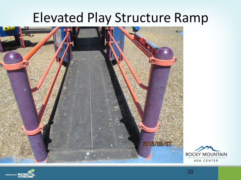 OPERATED BY Elevated Play Structure Ramp 20