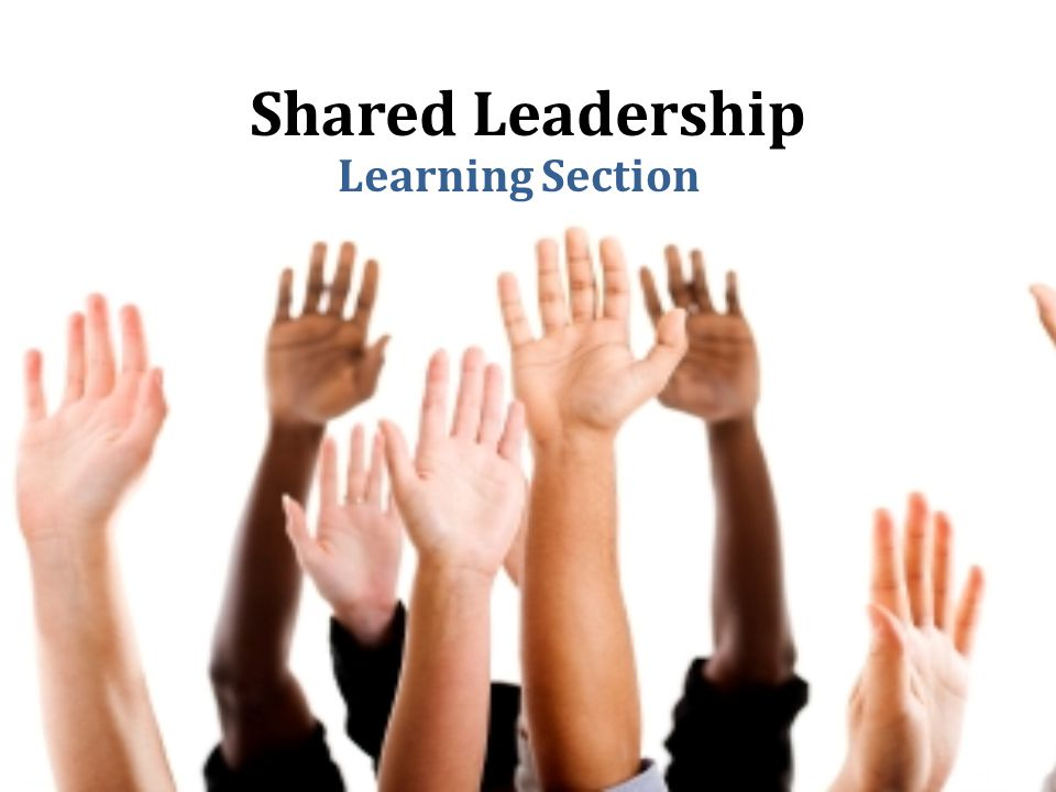 Shared Leadership Learning Section