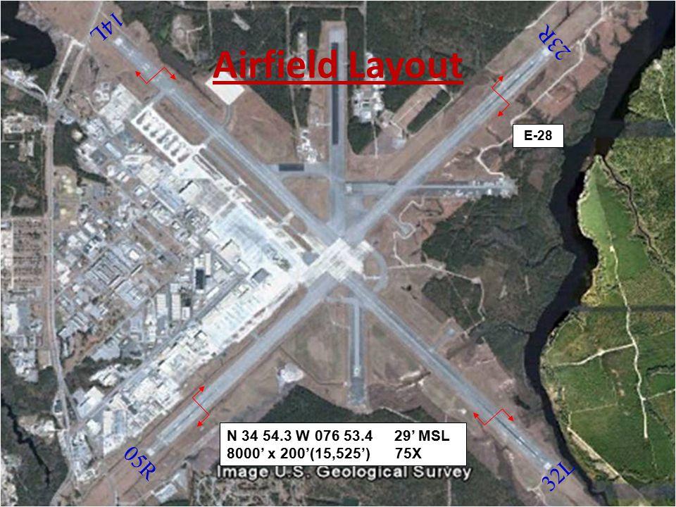 Runway Information Runway 32L / 14R Length / Width 8399 x 200 Magnetic Hdg 325 / 145 TZE Rwy 32L – 17' Runway 32R / 14L Length / Width 8984 x 200 Magnetic Hdg 325 / 145 TZE Rwy 14L – 19' Runway 32 is the primary calm wind runway Runway 5L / 23R Length / Width 7553 x 200 Magnetic Hdg 055 / 235 TZE Rwy 23R – 19' Runway 5R / 23L Length / Width 8188 x 200 Magnetic Hdg 055 / 235 TZE Rwy 5R – 23'