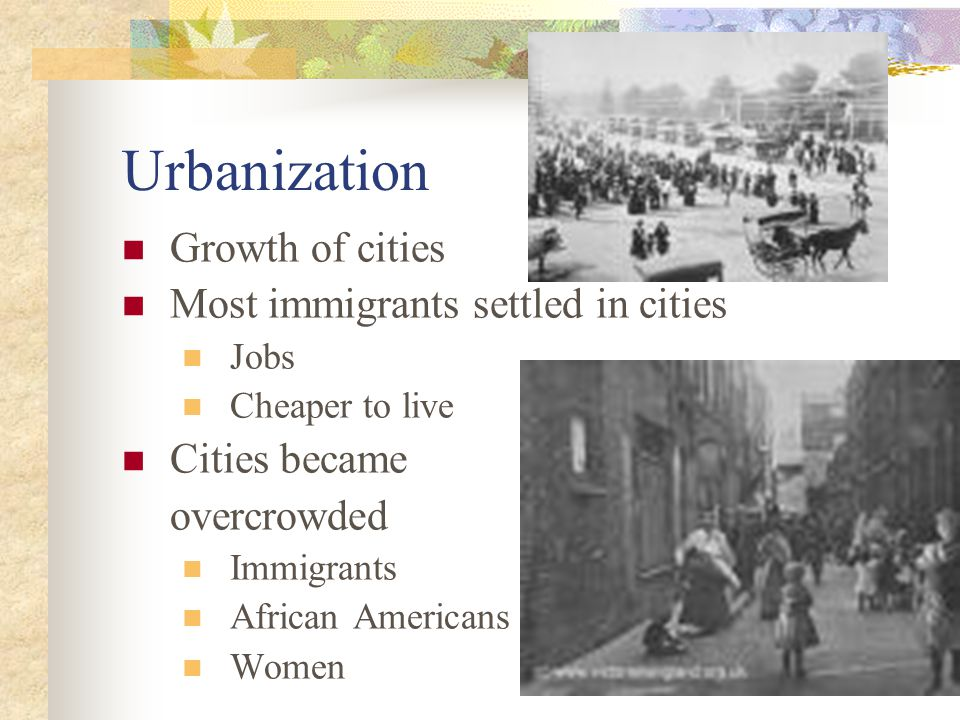 What is meant by Urbanization.