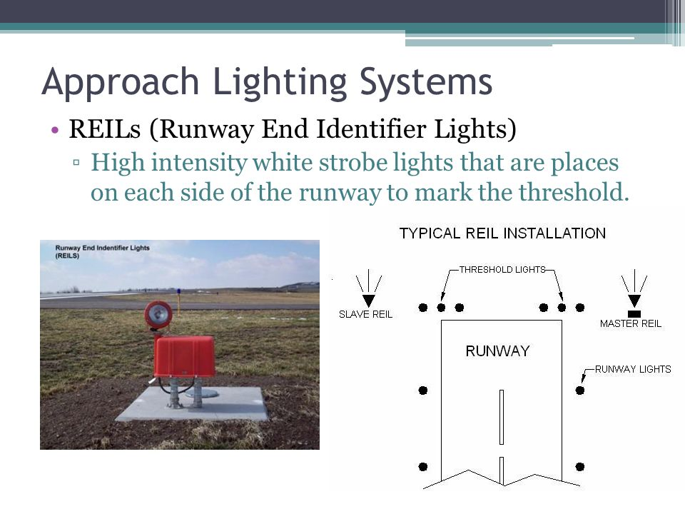 Runway Lighting Runway Edge Lights:- Single row of white lights bordering each side of runway and lights identifying the runway threshold Three Intens