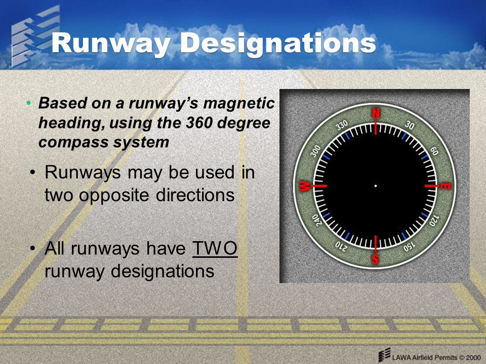 Runway Rectangular-shaped, paved surfaces on an airport, designed for the landing or takeoff of airplanes. Runways may be a man- made surface (often a