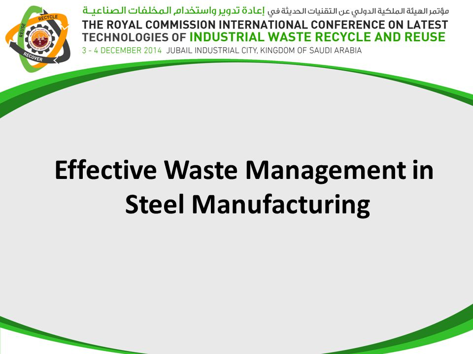 Effective Waste Management in Steel Manufacturing