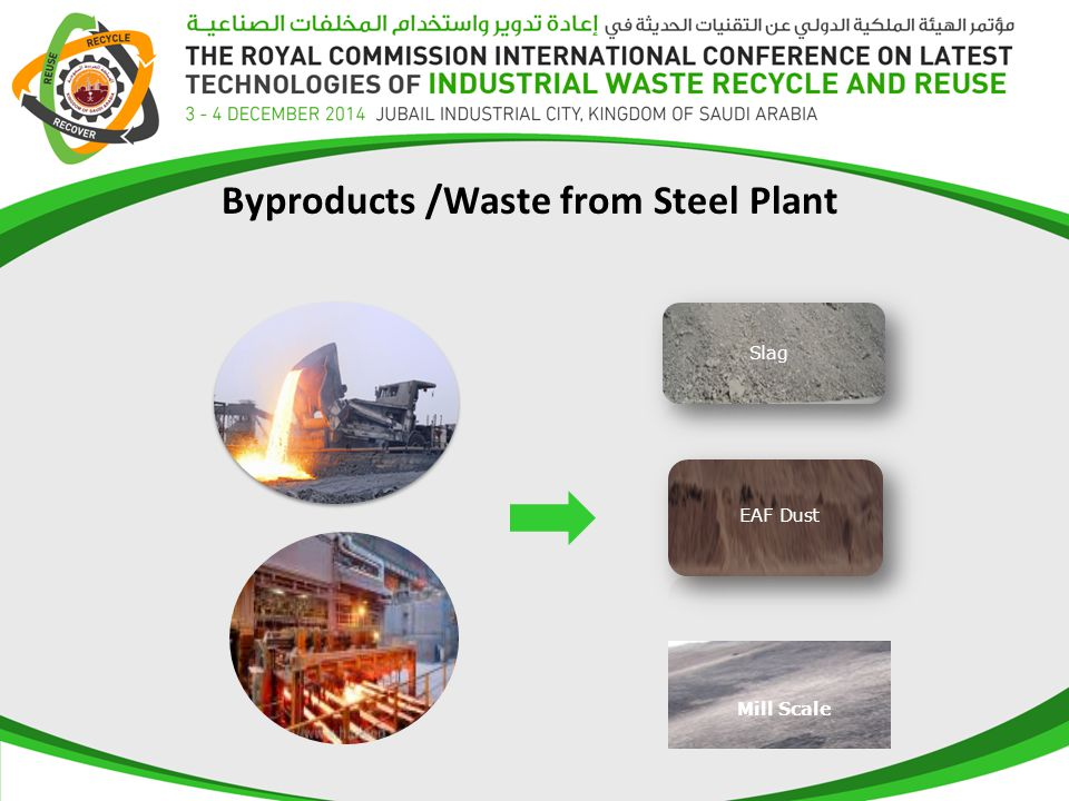 Byproducts /Waste from Steel Plant Mill Scale EAF Dust Slag
